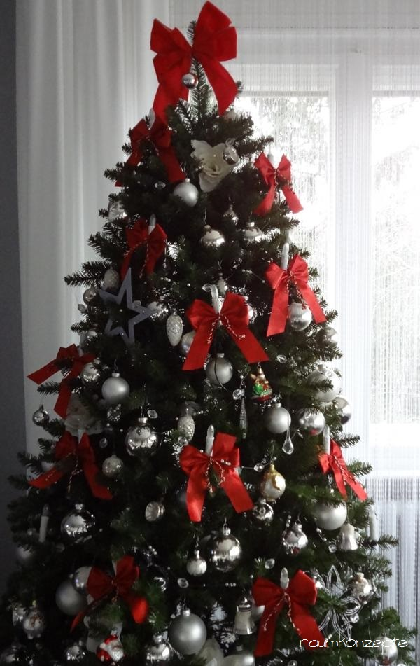Schleifen Weihnachtsbaum.Weihnachtsbaum Grosse Rote Schleifen B1721 05 Raumkonzepte