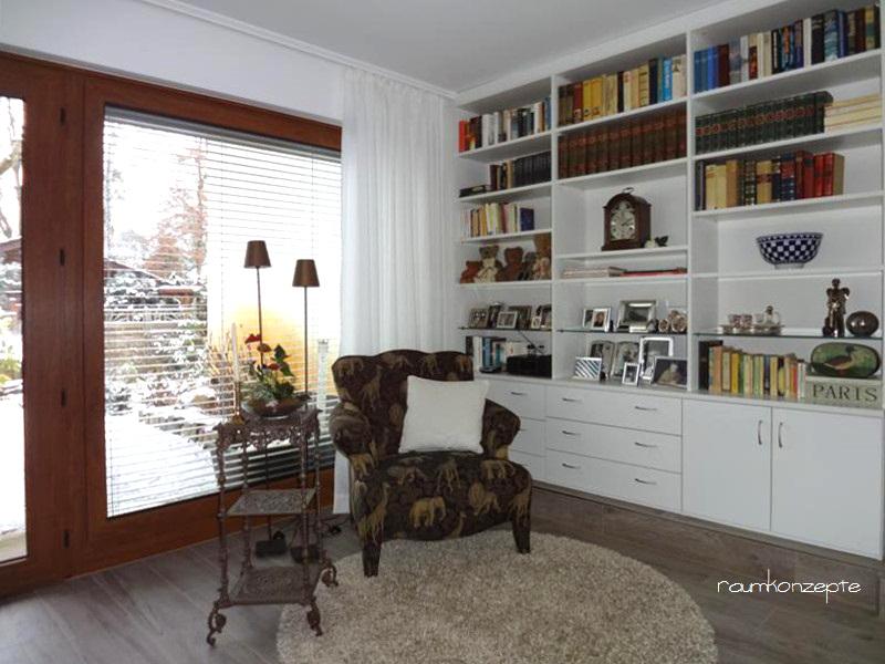 Wohnzimmer Lese-Sessel nach Umgestaltung am Fenster