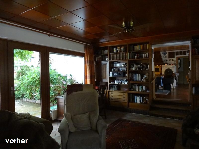 Wohnzimmer Lese-Sessel vor Umgestaltung in Raummitte