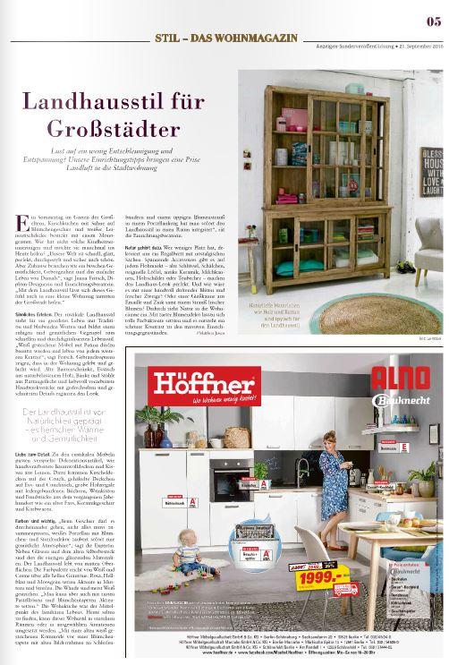 Bild Landhausstil aus Sonderbeilage der Berliner Zeitung Nr. 2/2016