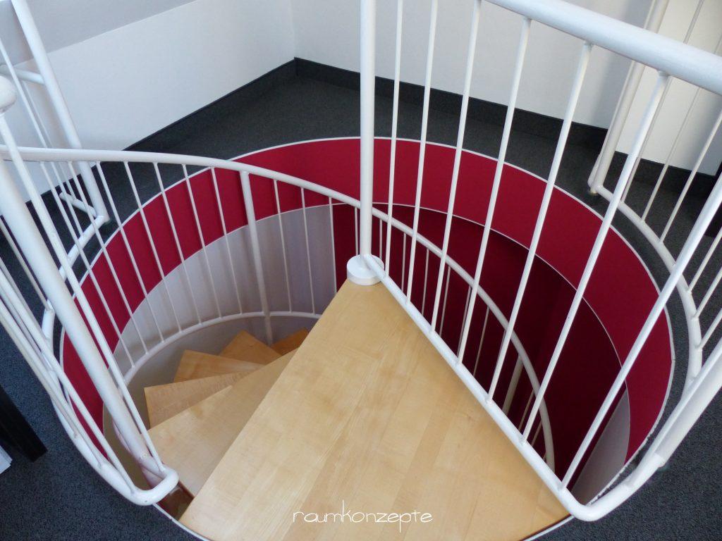 Galerie Wendeltreppe Deckendurchbruch von oben
