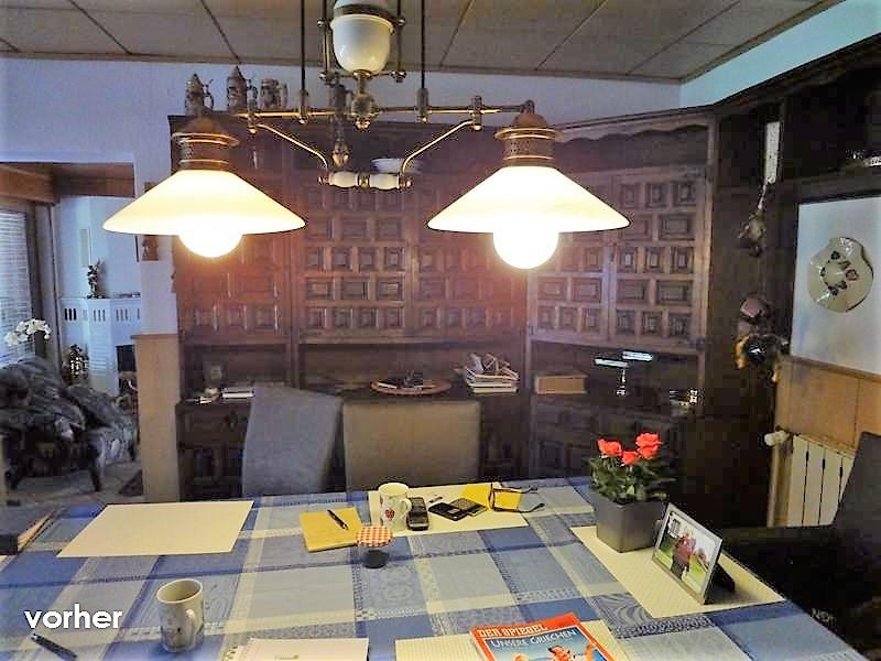 Esszimmer Schrank vor Umgestaltung in dunkelbraun