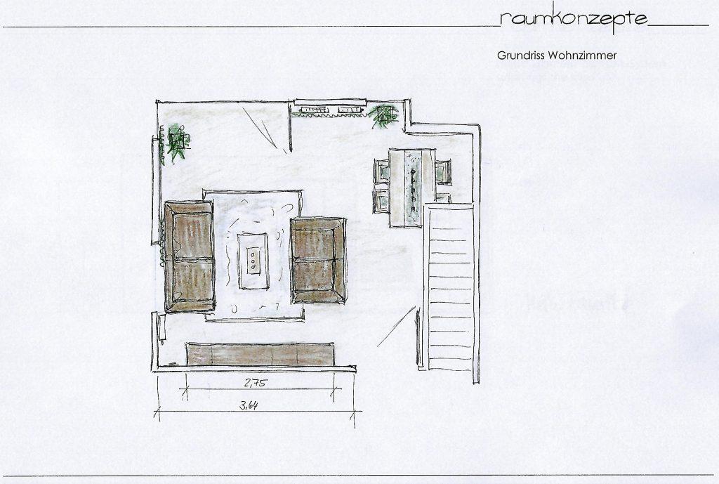 Wohnzimmer Grundriss Moebelierung geplant