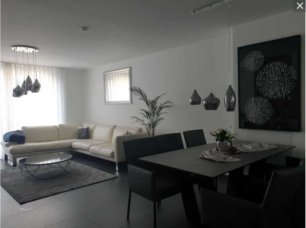 Wohn-Essbereich vorher ohne dunkle Wandfarbe